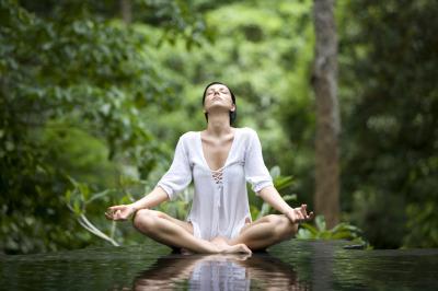 yoga woman at peace